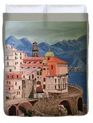 Winding Roads Of Italy Duvet Cover