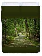 Winding Trails At Bur Mil Park  Duvet Cover