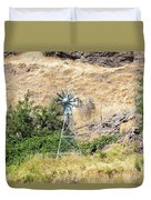 Windmill Aerator For Ponds And Lakes Duvet Cover