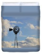 Windmill And Sky Duvet Cover
