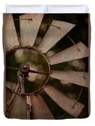 Windmill At Dusk Duvet Cover