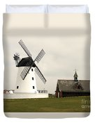 Windmill At Lytham St. Annes - England Duvet Cover