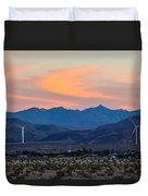 Windmill Desert Sunset Duvet Cover