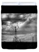 Windmill Foreground A Dramatic Sky Baw Duvet Cover