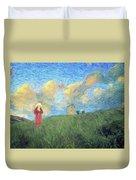 Windmill Girl Duvet Cover