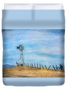 Windmill On The Hill Duvet Cover