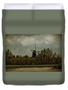 Windmill On The Rhine Duvet Cover