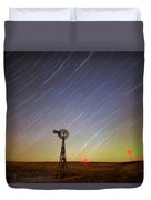 Windmills And Stars Duvet Cover