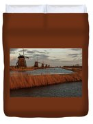 Windmills In The Evening Sun Duvet Cover