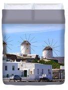 Windmills Mykonos Duvet Cover