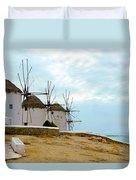 Windmills Of Mykonos I Duvet Cover