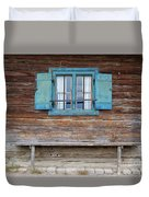 Window And Bench Duvet Cover by Yair Karelic