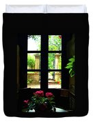 Window And Roses Duvet Cover