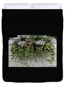 Window Box Flowers Duvet Cover
