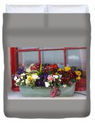 Window Flowers Duvet Cover