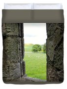 Window From The Past And Into The Future Duvet Cover