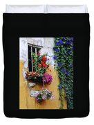 Window Garden In Arles France Duvet Cover