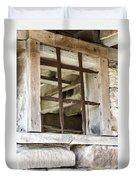 Window In The Amana Farmer's Market Barn Amana Ia Duvet Cover