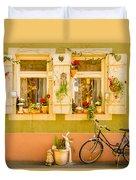Window Into Heidelberg Duvet Cover