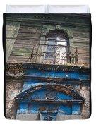 Window On Side Street Quezaltenango Guatemala Duvet Cover