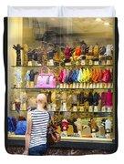 Window Shopper Duvet Cover