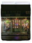 Window Shopping, French Quarter, New Orleans Duvet Cover