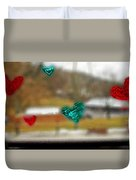 Window Stickers Duvet Cover