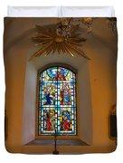 Window Teda Church Duvet Cover