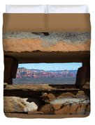 Window To Sedona Duvet Cover