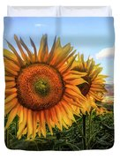 Window To The Sunflower Fields Oil Painting Duvet Cover