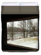Window To Winter Duvet Cover