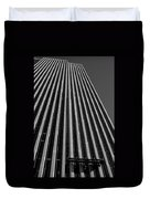 Window Washers View - Black And White Duvet Cover