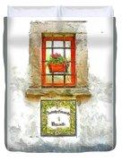Window With Flower Pot Duvet Cover