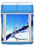 Window With The Mountain View Duvet Cover