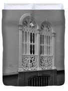 Windows At Cadiz Bw Duvet Cover