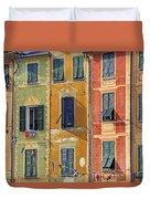 Windows Of Portofino Duvet Cover