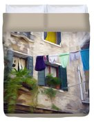 Windows Of Venice Duvet Cover