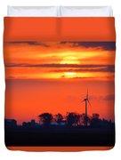 Windpower Sunrise Duvet Cover