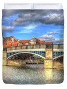 Windsor Bridge River Thames Duvet Cover
