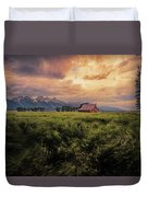 Windstorm On The Prairie Duvet Cover