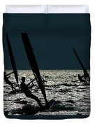 Windsurfing At Cape Hatteras National Duvet Cover