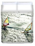 Windsurfing Silver Waters Duvet Cover