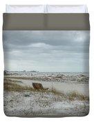Windswept Lido Beach Florida Duvet Cover
