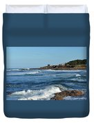 Windy Day At Yachats Duvet Cover