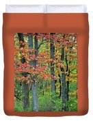 Windy Day Autumn Colors Duvet Cover