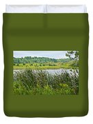 Windy Day In Campground In Saginaw-minnesota Duvet Cover