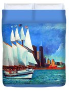 Windy In Chicago Duvet Cover