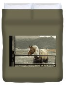 Windy In Mane Duvet Cover