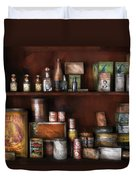 Wine - Rum And Tobacco Duvet Cover by Mike Savad