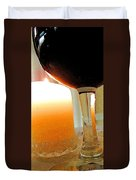 Wine And Candle Duvet Cover